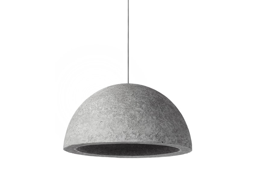 Direct light Recycled paper pendant lamp KABO by INDI