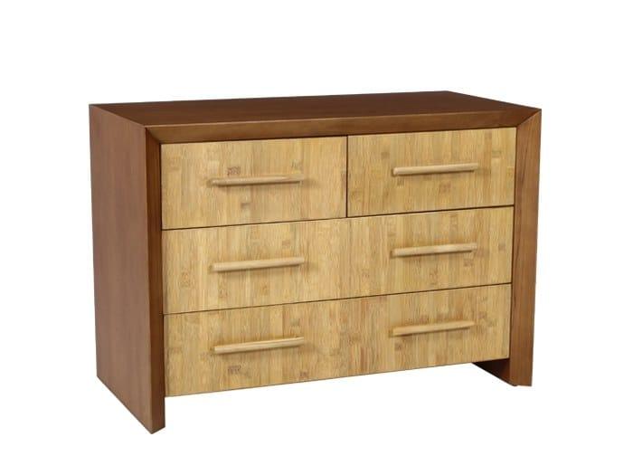 Wood veneer chest of drawers KACHA | Wood veneer chest of drawers by WARISAN