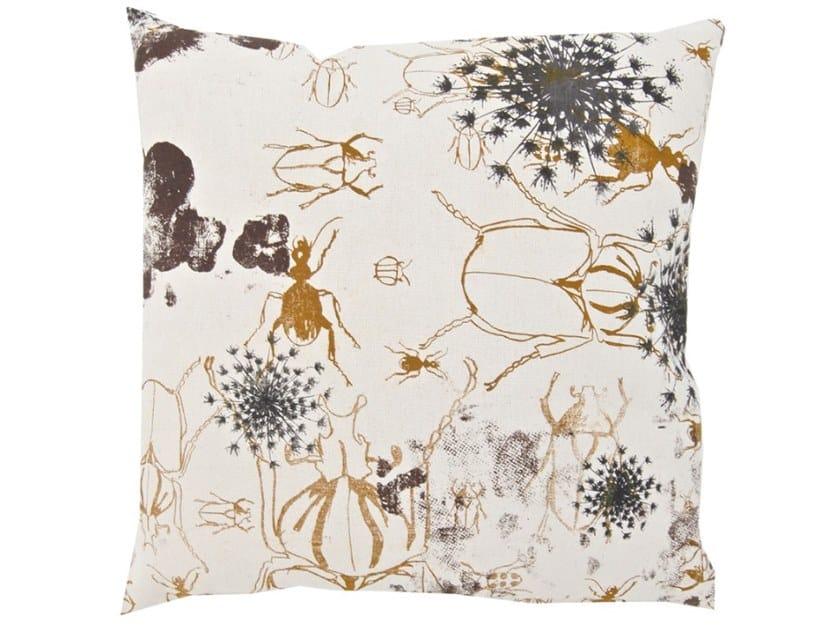 Square fabric cushion KAFER by Birgit Morgenstern Studios