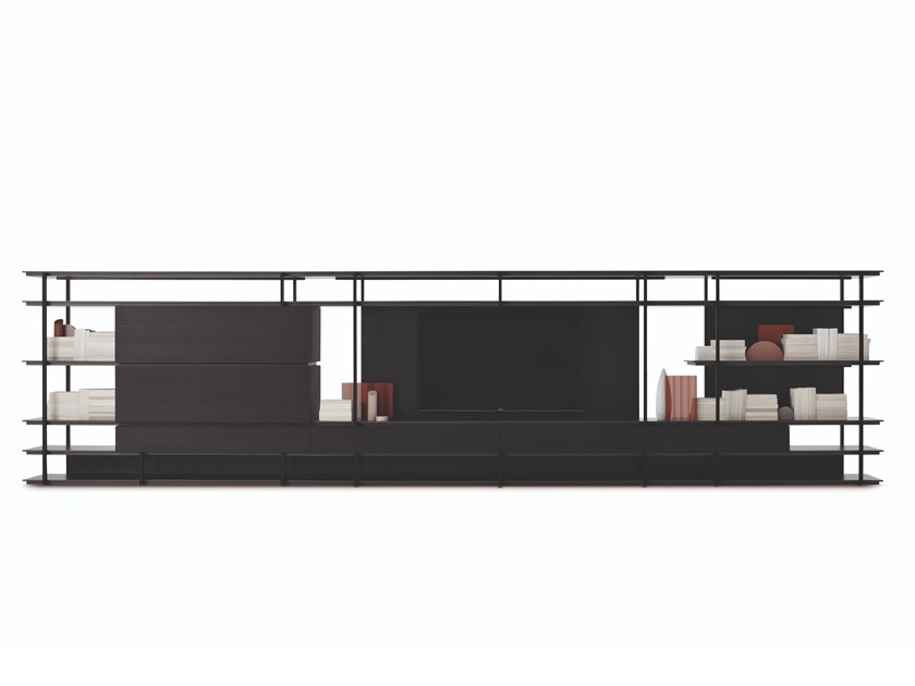 Sectional storage wall KAI by FORMER