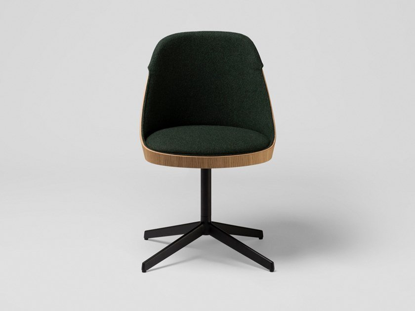 Upholstered fabric chair with 4-spoke base KAIAK CONFIDENT | Chair with 4-spoke base by ENEA