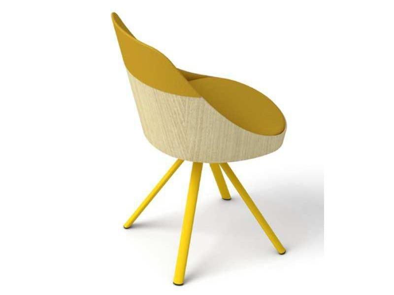 Trestle-based chair KAIAK by ENEA