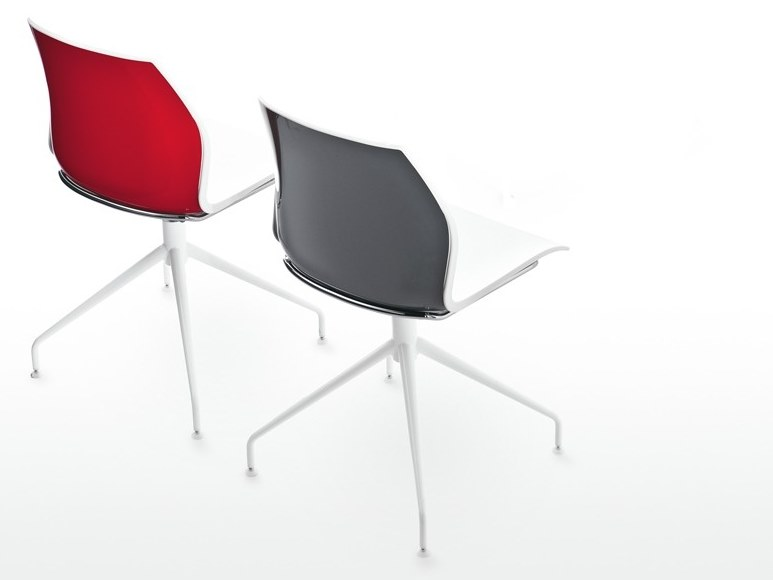 Trestle-based plastic chair KALEA | Plastic chair by Kastel