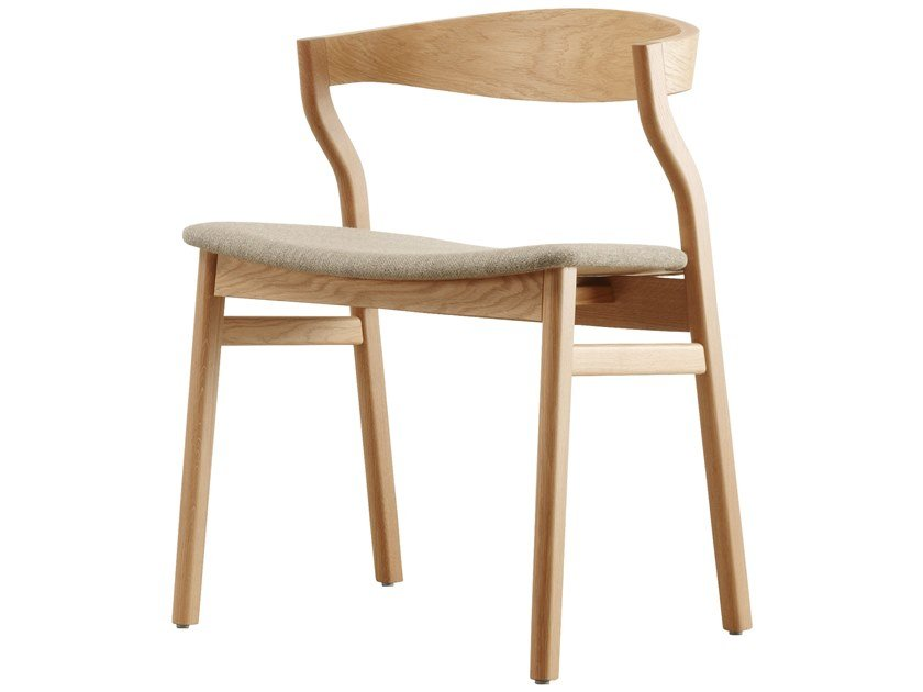 Sedia in legno con sedile imbottito KALEA   Sedia by Bedont
