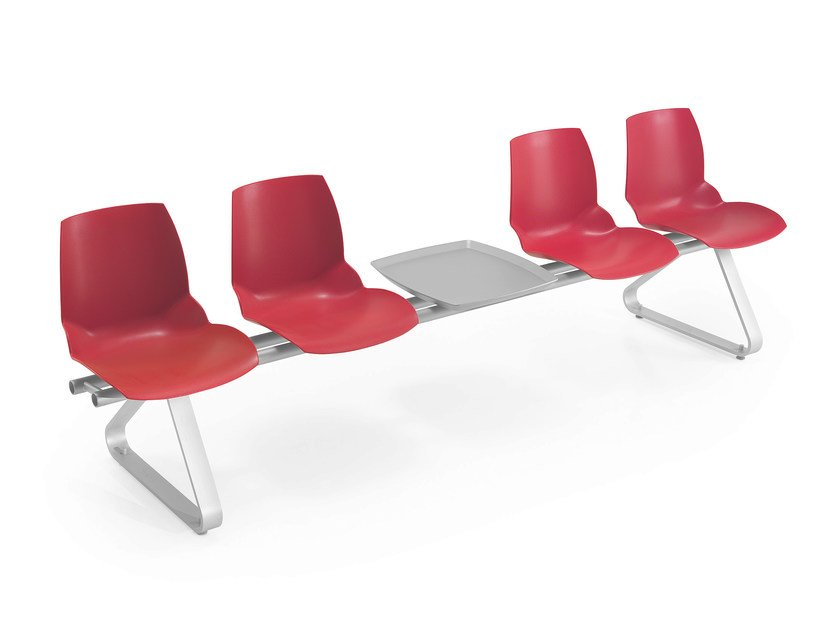 Technopolymer beam seating KALEIDOS | Beam seating by Caimi Brevetti