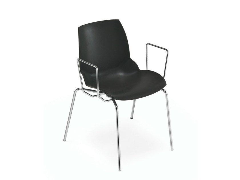 Technopolymer chair with armrests KALEIDOS | Chair with armrests by Caimi Brevetti