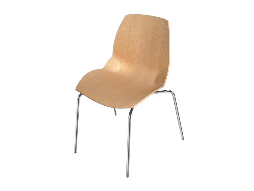 Wooden chair KALEIDOS | Wooden chair by Caimi Brevetti