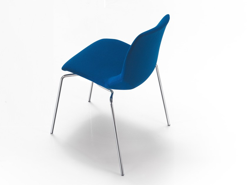 Upholstered fabric chair KALEIDOS | Fabric chair by Caimi Brevetti