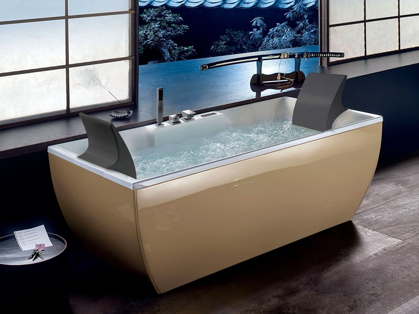 Whirlpool rechteckige Badewanne KALI\' COLOR By Blu Bleu