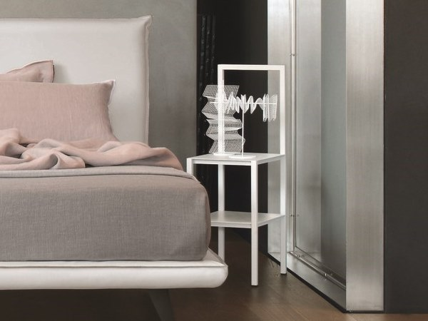 Lacquered metal bedside table KALISTA by Gruppo Tomasella