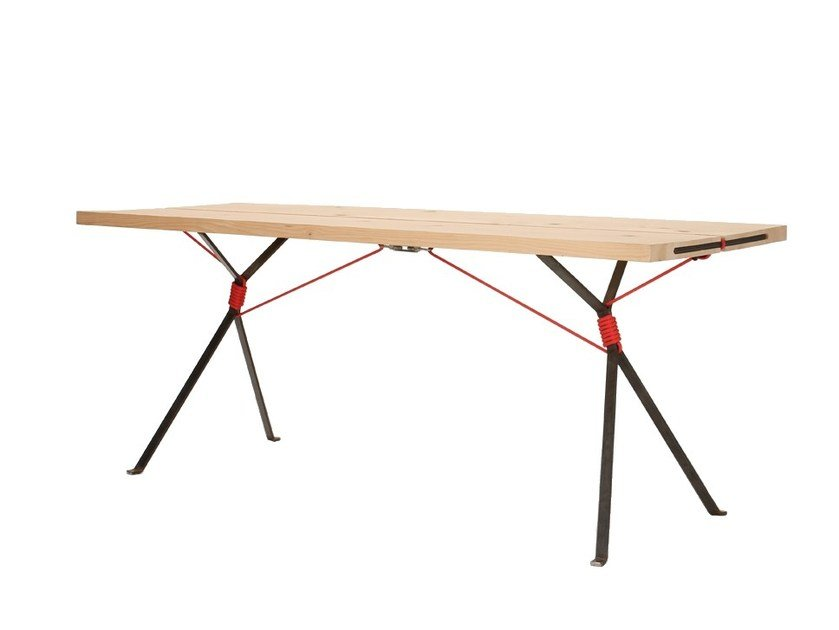 Rectangular spruce table KAMPENWAND | Table by Nils Holger Moormann