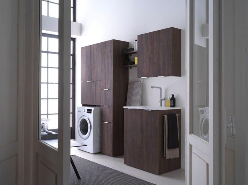 Mobile lavanderia in nobilitato per lavatrice KANDY 02 by Ideagroup