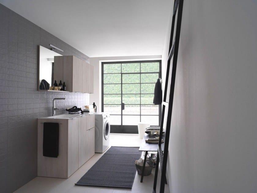 Mobile lavanderia in nobilitato con lavatoio KANDY 10 by Ideagroup