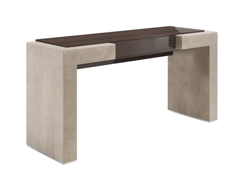 Rectangular solid wood console table with drawers KANDY | Console table by Capital Collection
