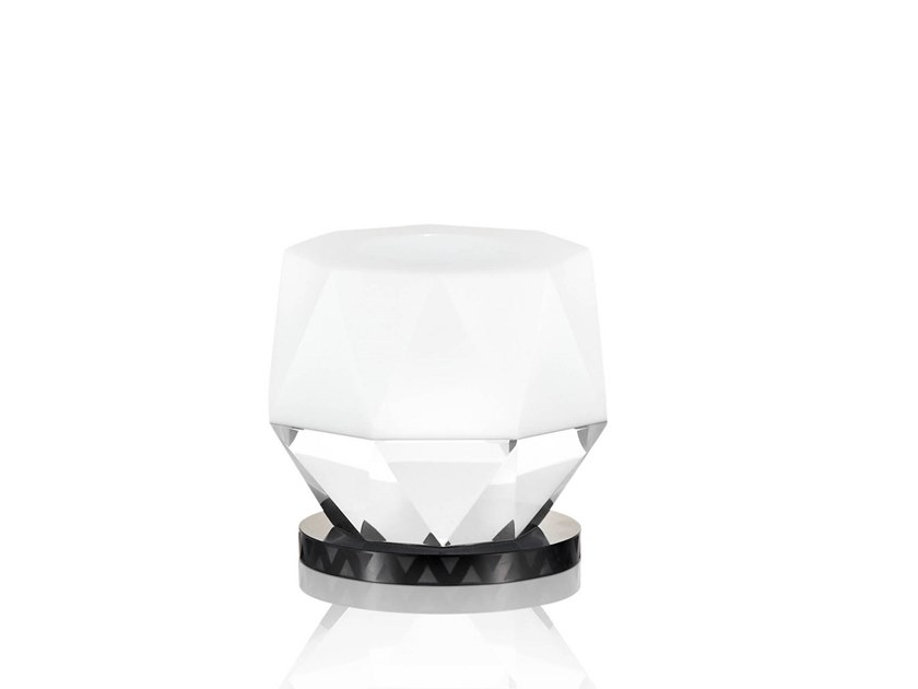 Contemporary style crystal candle holder KANSAS by Reflections Copenhagen