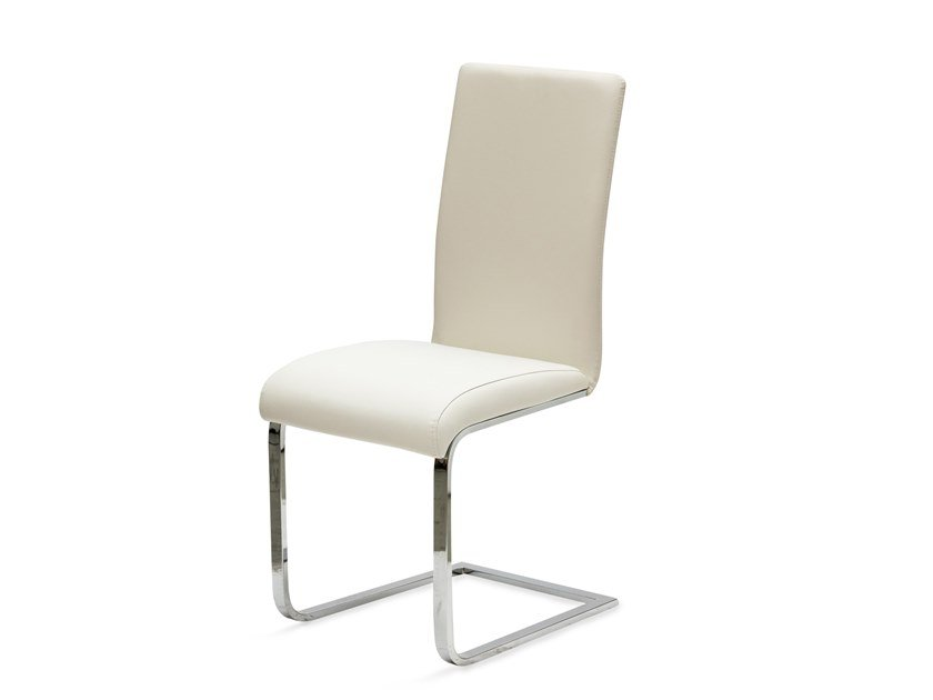 Cantilever Eco-leather chair KANT by La seggiola