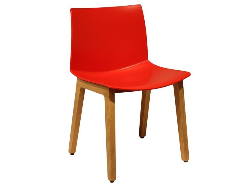 Technopolymer chair KANVAS 2 BL by GABER