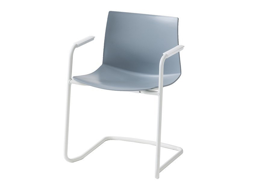 Cantilever technopolymer chair with armrests KANVAS 2 CTLS by GABER