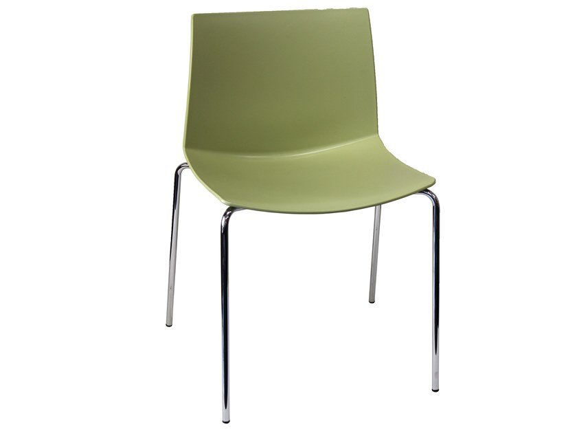 Stackable technopolymer chair KANVAS 2 NA by GABER