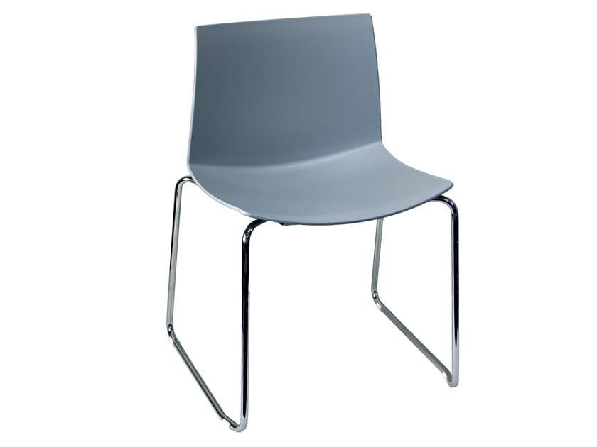 Sled base technopolymer chair KANVAS 2 ST by GABER