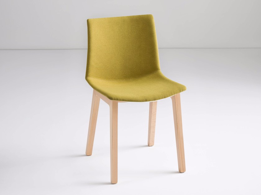 Upholstered fabric chair KANVAS BL FRONT by GABER