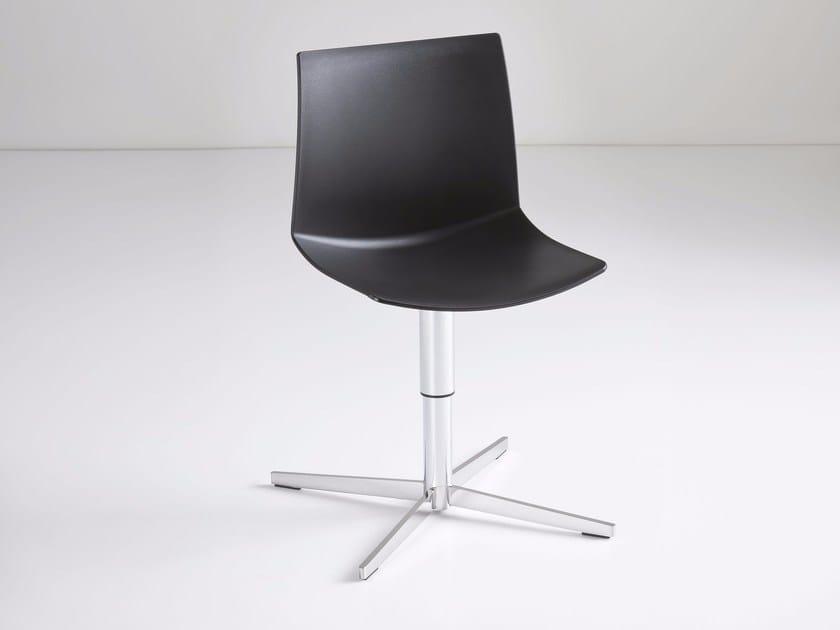 Swivel technopolymer chair with 4-spoke base KANVAS L by GABER