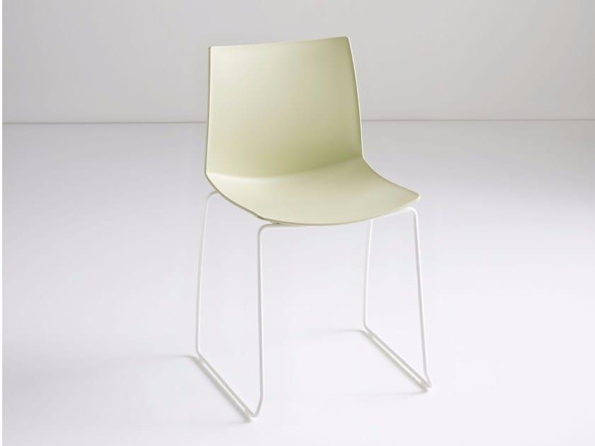 Sled base technopolymer chair KANVAS S by GABER