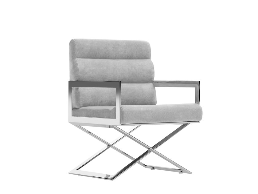 Upholstered fabric easy chair with armrests KAPPA | Fabric easy chair by Capital Collection