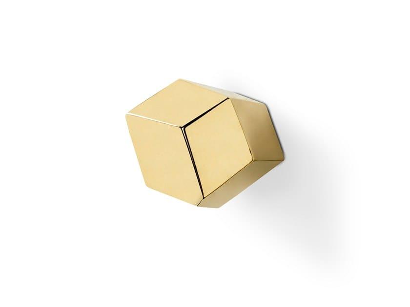 Brass Furniture knob KARAT CM3012 by PullCast