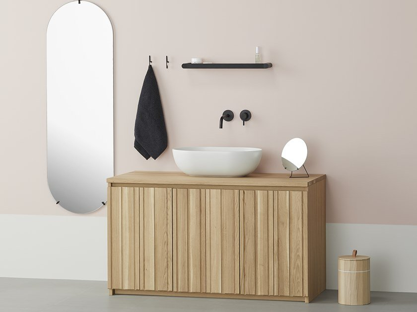 Solid Wood Vanity Unit With Doors