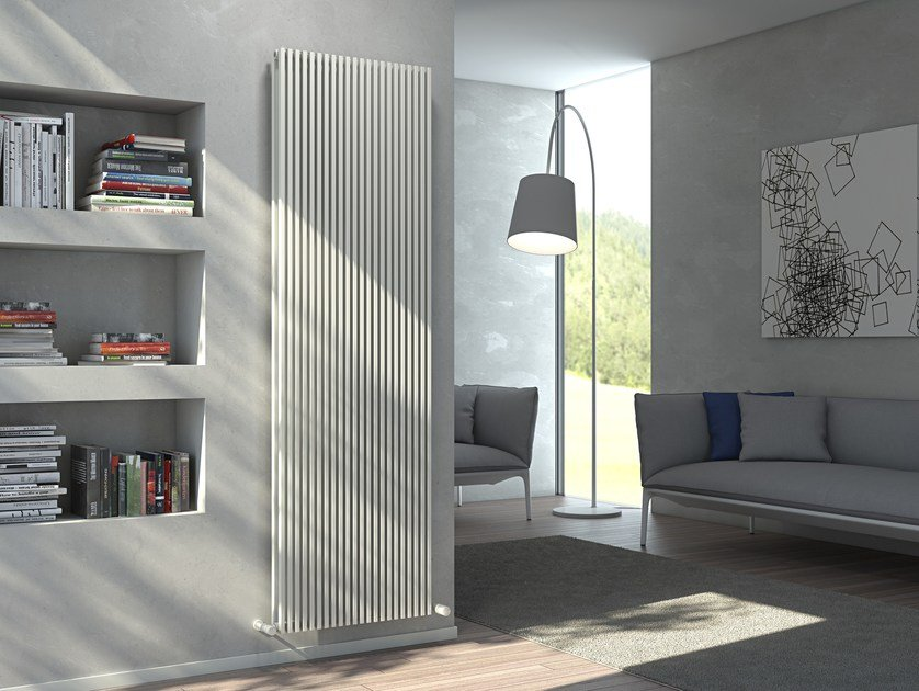 Vertical wall-mounted hot-water radiator KARIN VX TANDEM VT by CORDIVARI