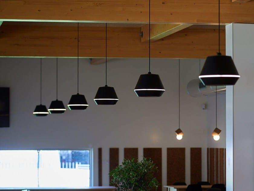 LED direct light aluminium pendant lamp KASA S by Exporlux