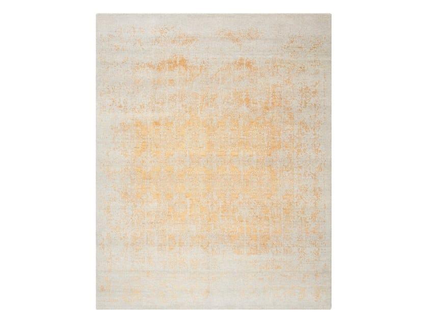 Handmade custom rug KASMIR BLAZE ORANGE by Thibault Van Renne