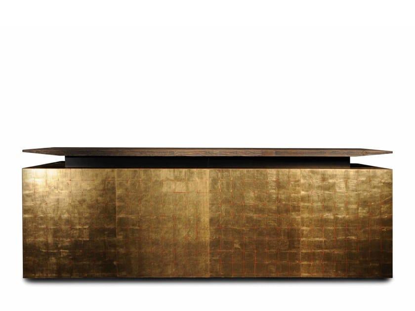 Gold leaf sideboard with doors KATAI 3 by Garbarino