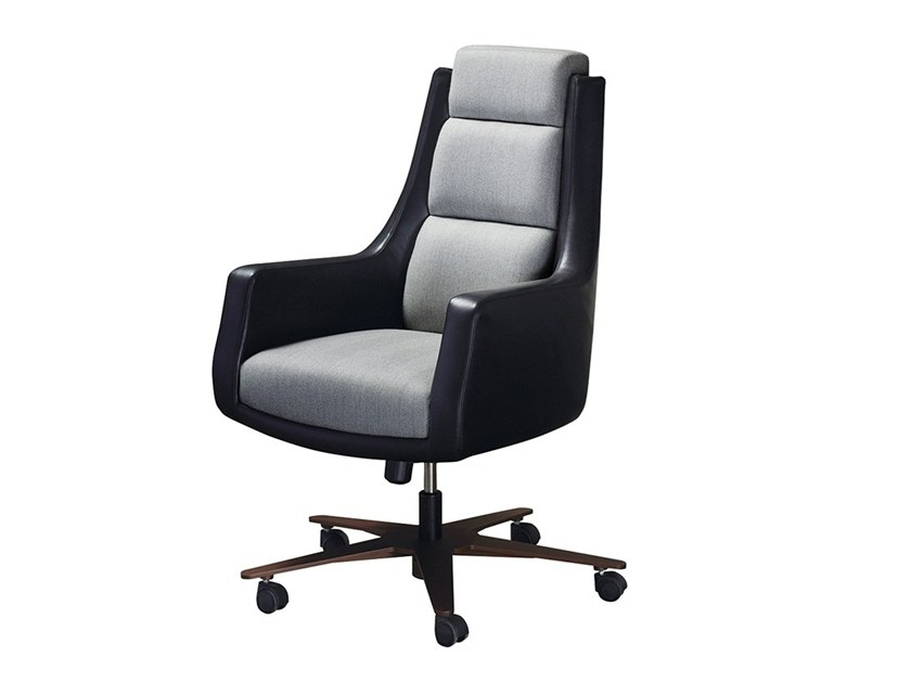 Executive chair with 5-spoke base with casters KATE by Promemoria