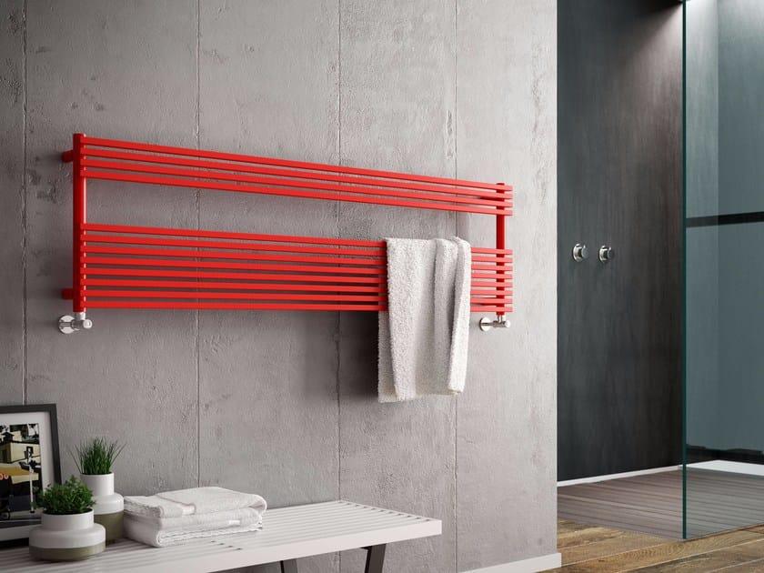 Horizontal carbon steel towel warmer KATIA WIDE by CORDIVARI