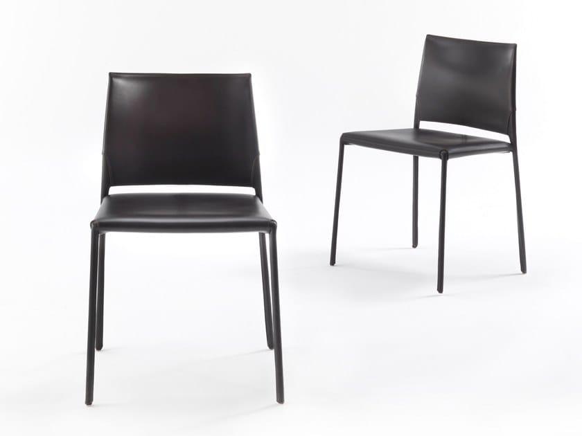 Sedia in cuoio kau by riva design claudio bellini