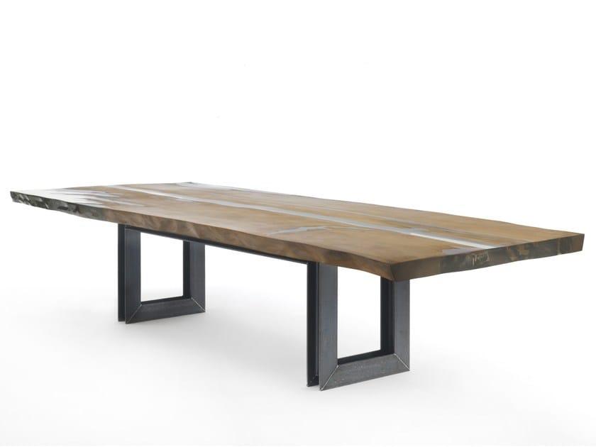 Rectangular Kauri wood table KAURI BEAM by Riva 1920