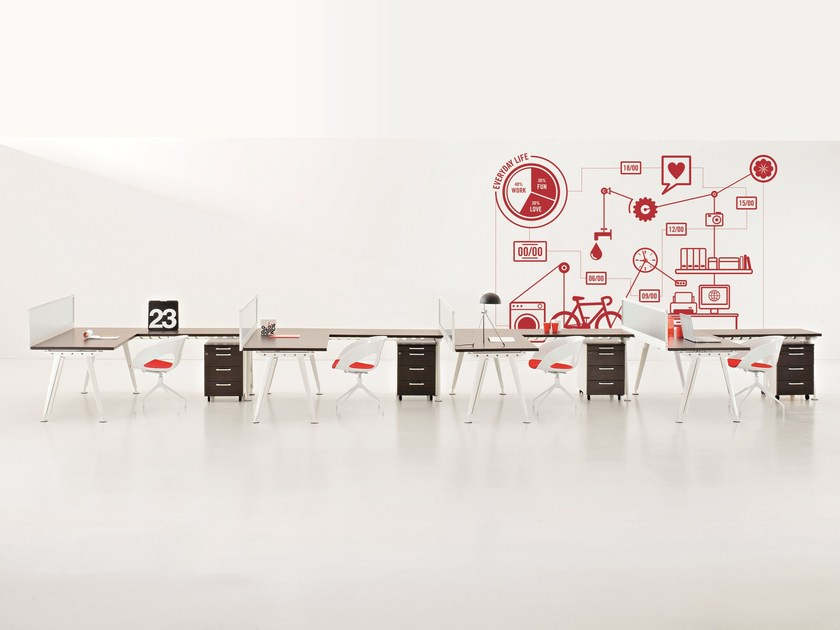 Multiple office workstation KAYO.COMPAS | Multiple office workstation by Archiutti