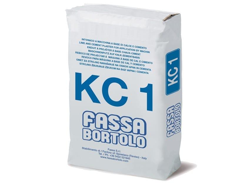 Intonaco di fondo a base di calce e cemento KC 1 by FASSA