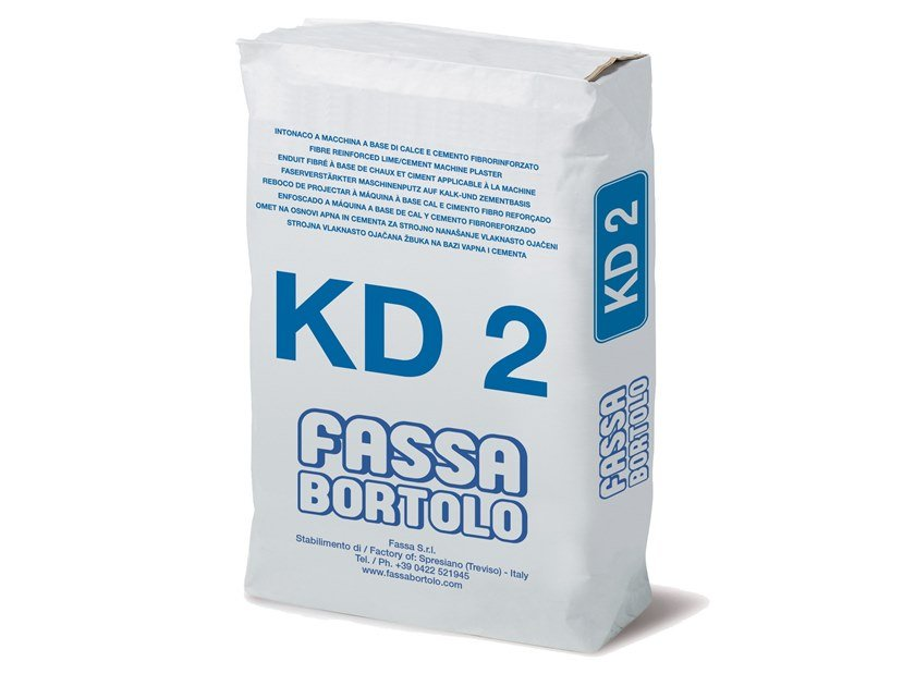 Intonaco fibrorinforzato a base di calce e cemento KD 2 by FASSA