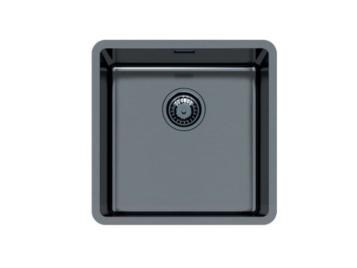 Single flush-mounted stainless steel sink KE R15 40X40 FT GUNMETAL by Foster