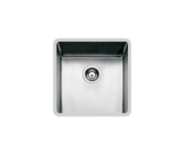 Single flush-mounted stainless steel sink KE R15 40X40 FT TPR INOX by Foster