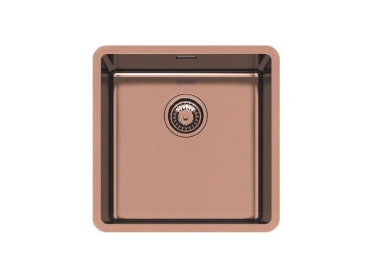 Single undermount stainless steel sink KE R15 40X40 S/TOP COPPER B. by Foster