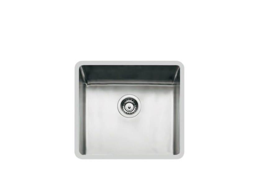Single flush-mounted stainless steel sink KE R15 45X40 FT TPR INOX by Foster