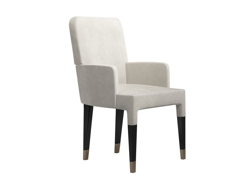 Upholstered fabric chair with armrests KEATRIX L by Capital Collection