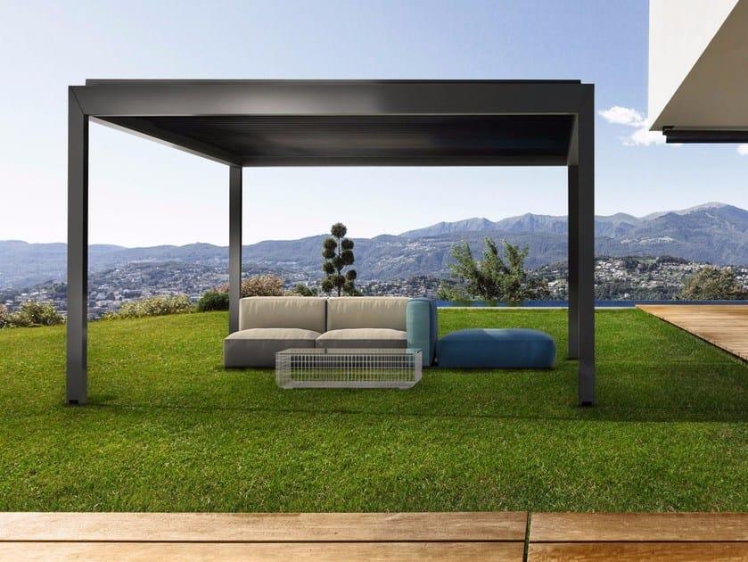Freestanding aluminium pergola with adjustable louvers KEDRY PLUS by KE Outdoor Design