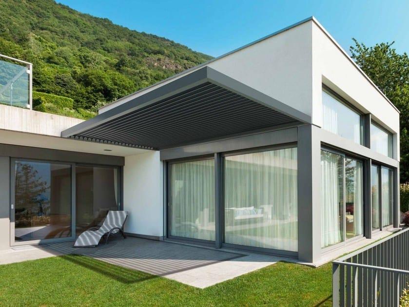 Aluminium pergola with adjustable louvers KEDRY PLUS T by KE Outdoor Design