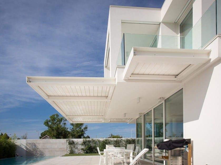 Pergolato in alluminio a lamelle orientabili KEDRY T by KE Outdoor Design