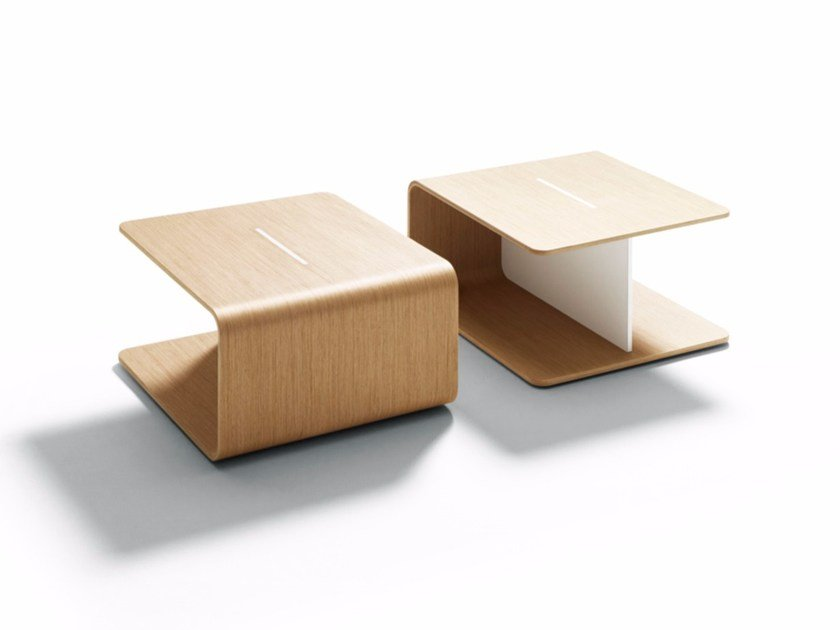 Square wooden coffee table KEEL by DE PADOVA